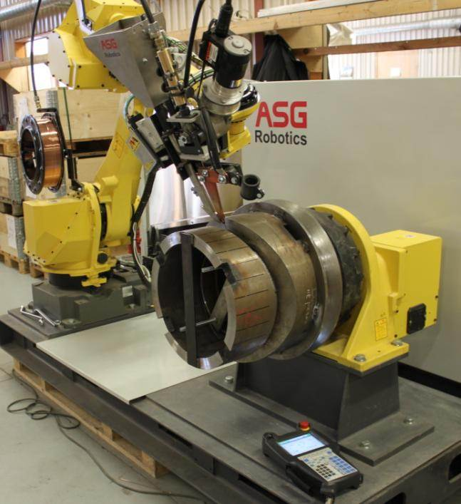 experimental platform for carring out studies on welding seam