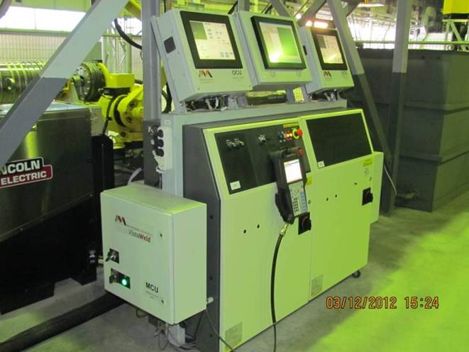 SAW welding robotic cell, operating system
